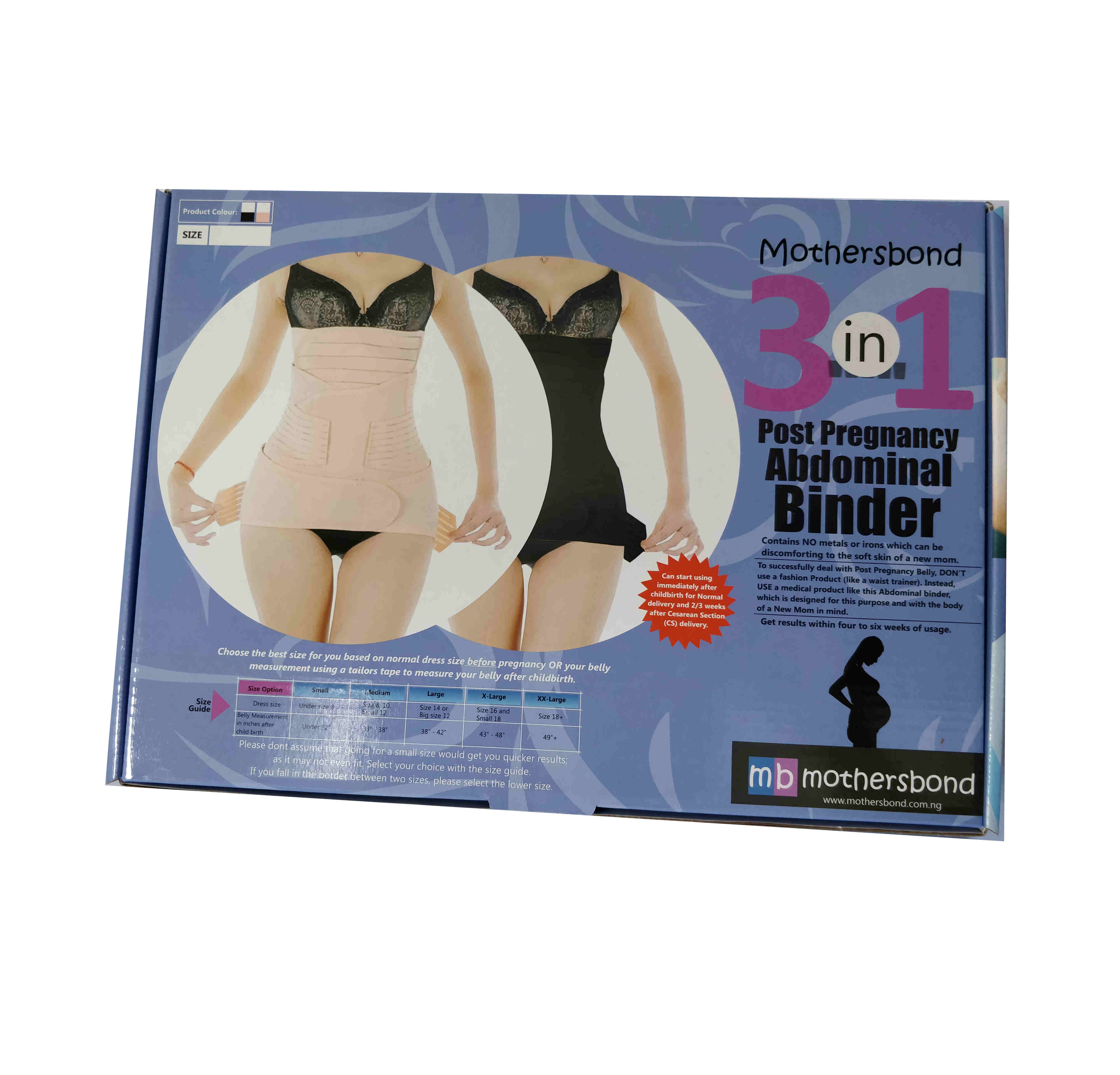 Mothersbond (3 in 1) Post Pregnancy Abdominal Binder  [PRODUCT VIDEO  INCLUDED]
